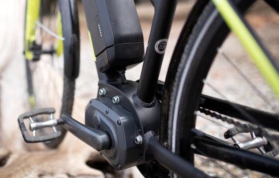 Detail view of e bike
