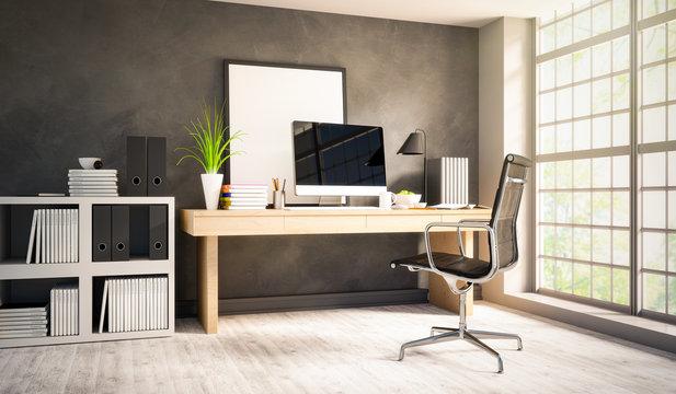 Schreibtisch in Apartment- Home Office