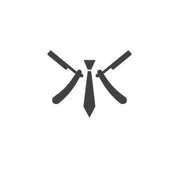 logo M babershop icon vector