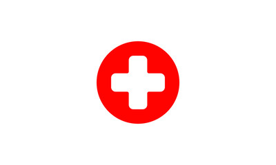 First aid medical sign flat icon