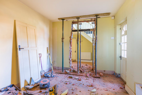 Domestic house room renovation and building work