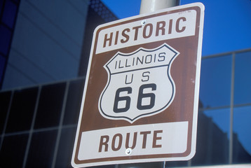 Wall Mural - A historic route 66 sign