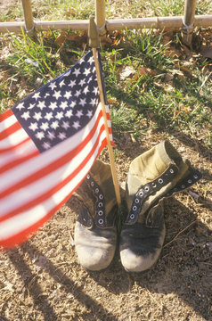 American Flag Between Two Army Boots, Washington, D.C.