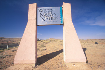 Wall Mural - A sign that reads ÒWelcome to the Navajo NationÓ