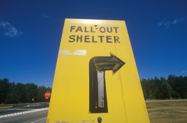 Wall Mural - A sign that reads ÒFall out ShelterÓ