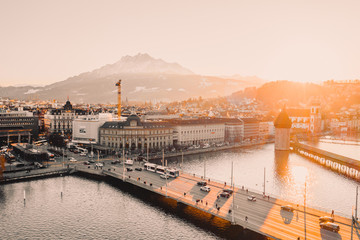 Sunset Across Lucerne