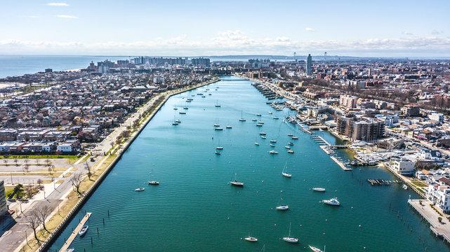 Aerial Images of Sheepshead Bay Brooklyn