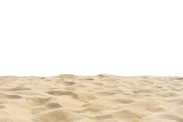 Wall Mural - Sand isolated on white background