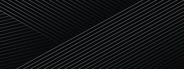 Abstract black background with diagonal lines. Modern dark abstract vector texture.