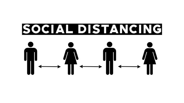 Social Distancing People Icons Graphic Concept