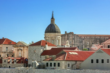 Fotomurales - View of Dubrovnik Cathedral, Croatia