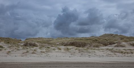 Poster de jardin Desert de sable Beach and dunes Julianadorp Netherlands. Northsea coast.