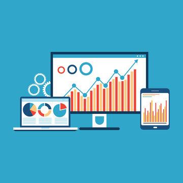 website analytics and SEO data Analytics concept