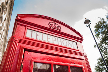 Fototapete - Phone cabine in London