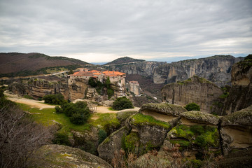 Photo sur Toile Algérie Monasteries - Meteors, Greece