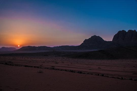 Wadi Rum Jordan Sunset