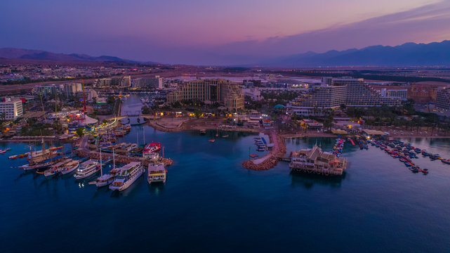 Eilat, Israel, aerial drone view