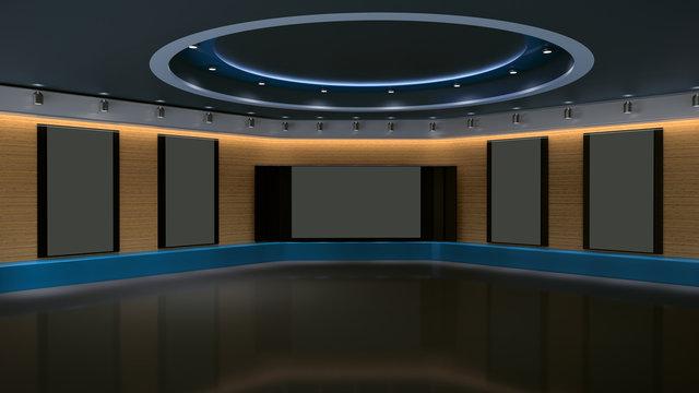 Virtual 3D Studio with vertical screens