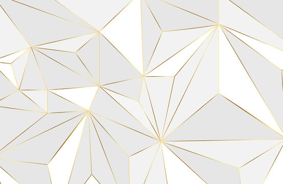 Abstract geometric layout background with white and gold element. Abstract modern background. Elegant geometric design with golden line vector