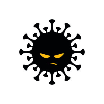 """Corona virus """"Covid-19"""" pandemic isolated dark vector icon for web and mobile"""