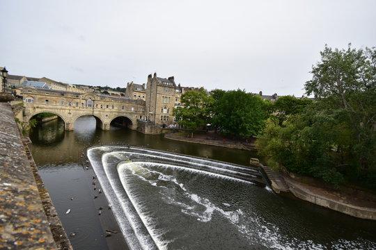 Weir City of Bath England UK