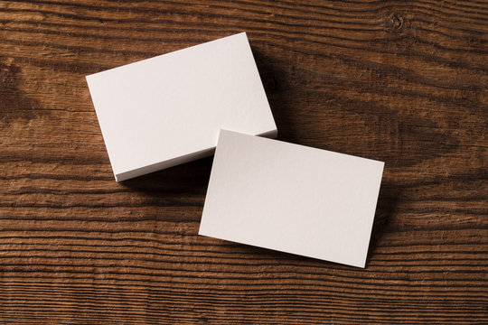 business card mockup on old wood highlighting carpentry craft