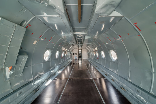 Parts of the aircraft AN-26. Cargo compartment interior