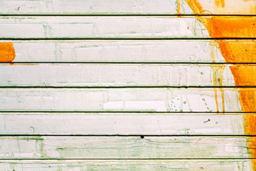 Wall Mural - Stained grunge wooden wall background