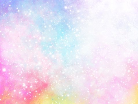 Pastel glitter vintage lights background. defocused. Dreamy colorful bokeh lights for backdrop. blur background.Concept from princess, Christmas, happy holiday, valentine, advertising, presentation