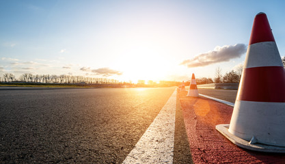 Foto op Aluminium F1 Race Car / motorcycle racetrack on a sunny day.