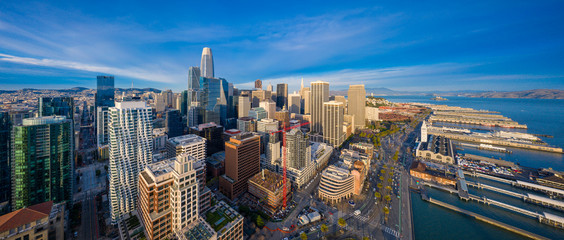 Fototapete - Aerial View of San Francisco Skyline