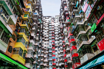 Poor and Densely Populated Housing Problem in Hong Kong Fotomurales