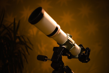 Telescope for observing the universe - astronomy and astrology.