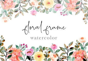 abstract floral watercolor background