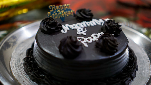 Happy Marriage Anniversary Chocolate Cake for Parents
