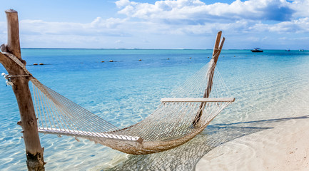 hammock on the beach, Morne Brabant, Mauritius