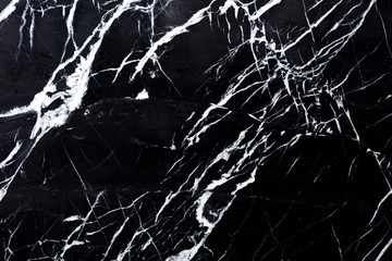 Marble background in contrast black and white colors for new design work. High quality texture.