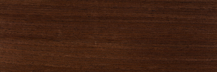 Excellent dark brown venge veneer background as part of your strict style. Natural wood texture, pattern. Wall mural
