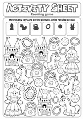 Printed roller blinds For Kids Activity sheet counting game 8