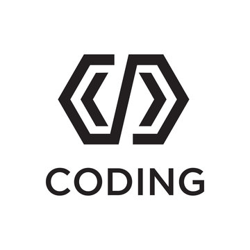 coding logo design template