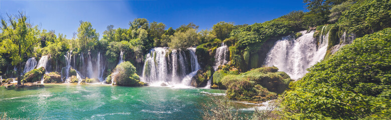 Poster Cascades Kravice waterfall on the Trebizat River in Bosnia and Herzegovina