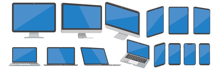 pc laptop smartphone tablet vector illustration Fototapete