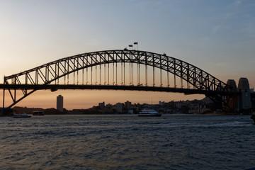 Fotobehang Sydney Most na tle nieba