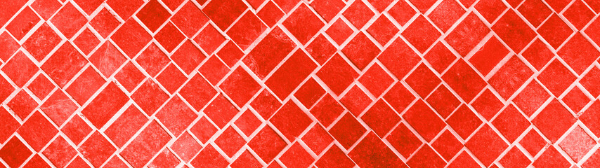 Abstract fire red concrete cement stone square rectangular cubes texture background banner panorama
