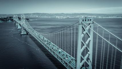 bridge in the fog Fotomurales