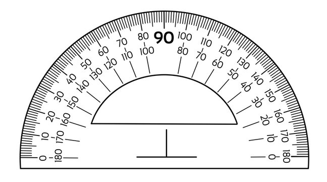Vector protractor ruler isolated on the white background