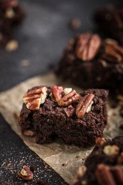 brownie noix de pécan et chocolat