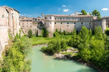 "The ""Ducal Palace"" of Urbania (Pesaro-Urbino, Marche, Italy) over the river Metauro"
