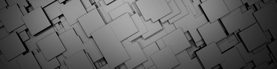 Wall Mural - Gray modern futuristic cubes background, 3d render illustration