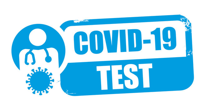 Testing for COVID-19 vector illustration rubber stamp